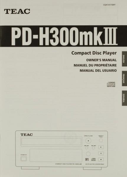 Teac PD-H 300 mk III Bedienungsanleitung