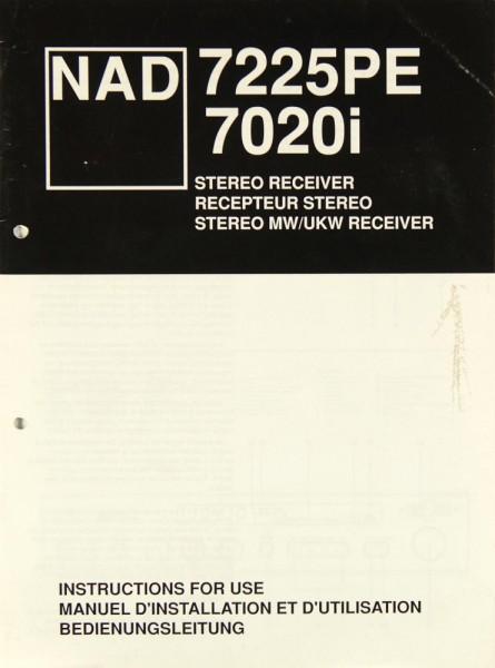 NAD 7225 PE / 7020 i Bedienungsanleitung