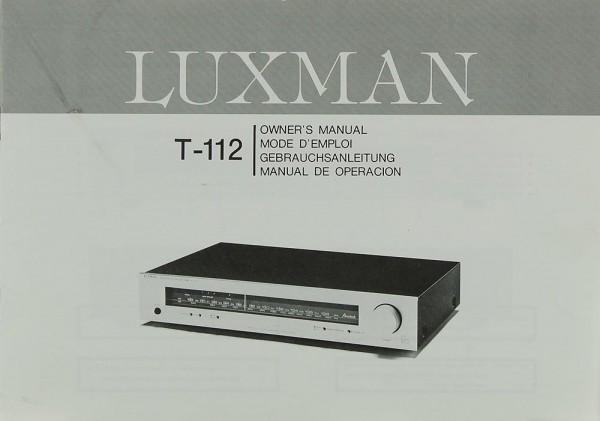 Luxman T-112 Bedienungsanleitung