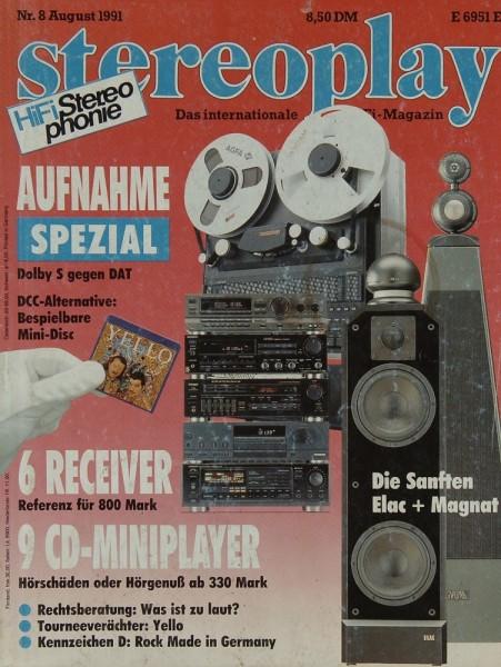 Stereoplay 8/1991 Zeitschrift