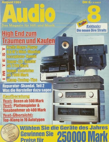 Audio 8/1991 Zeitschrift