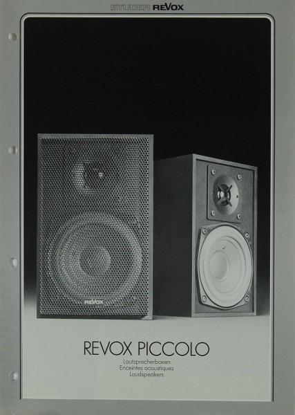 Revox Piccolo Prospekt / Katalog