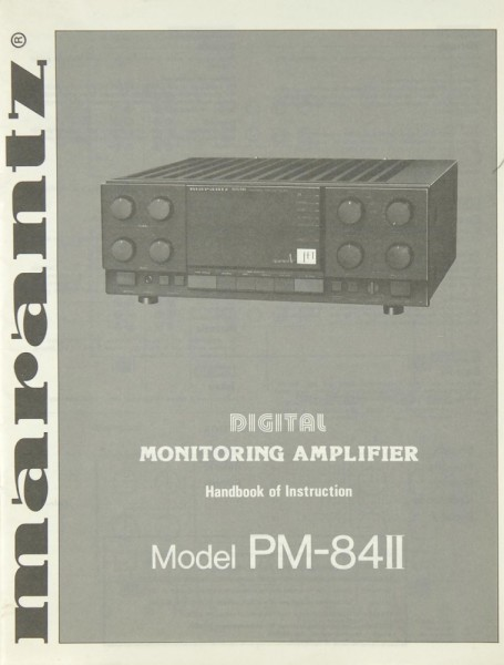 Marantz PM-84 II Bedienungsanleitung