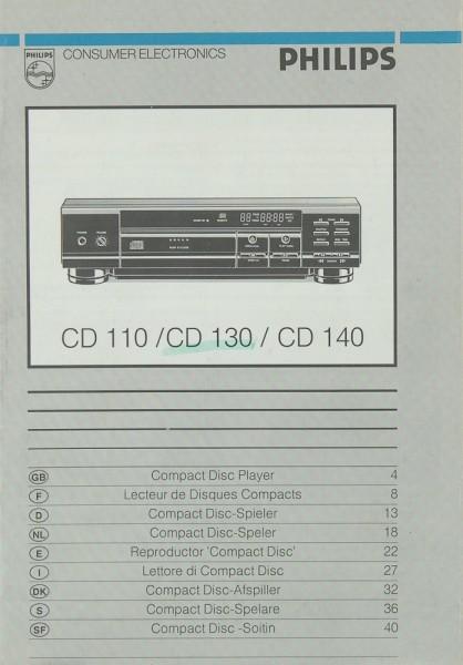 Philips CD 110 / CD 130 / CD 140 Bedienungsanleitung