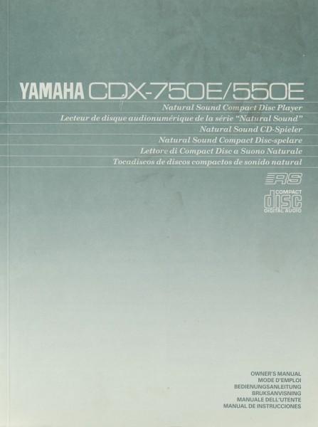Yamaha CDX-750 E / 550 E Bedienungsanleitung