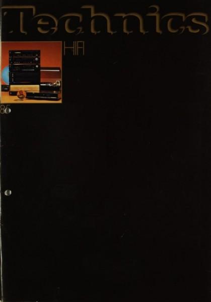 Technics Technics HiFi 85 Prospekt / Katalog