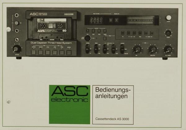 ASC AS 3000 Bedienungsanleitung