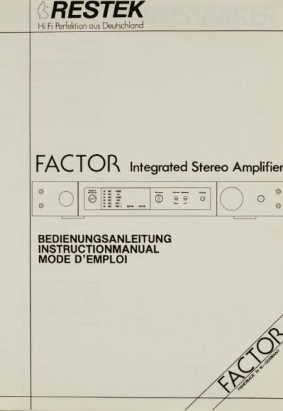 Restek Factor Bedienungsanleitung
