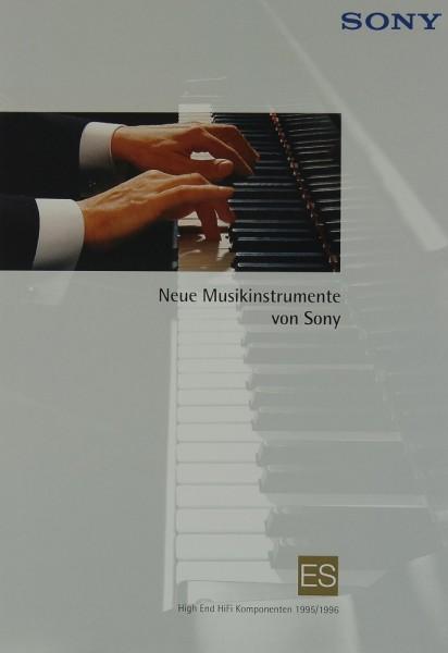 Sony High-End Komponenten 1995/1996 Prospekt / Katalog