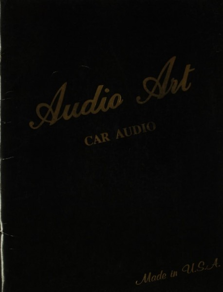 Audio Art Car Audio Referenz Serie Prospekt / Katalog