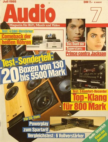 Audio 7/1988 Zeitschrift