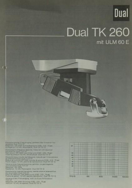 Dual TK 260 Bedienungsanleitung