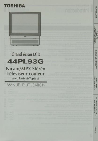 Toshiba 44 PL 93 G Bedienungsanleitung