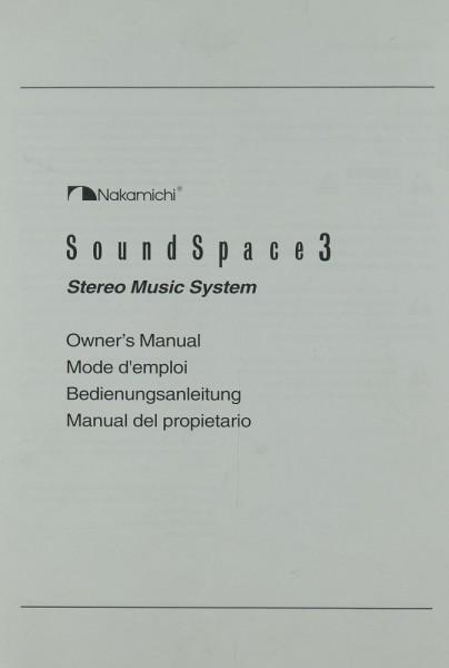Nakamichi Sound Space 3 Bedienungsanleitung