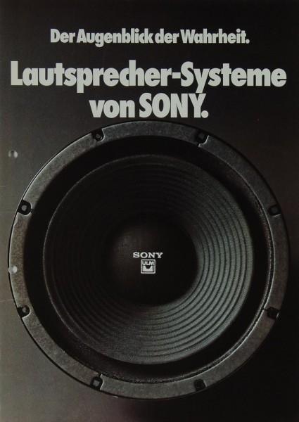 Sony Lautsprecher-Systeme von Sony Prospekt / Katalog