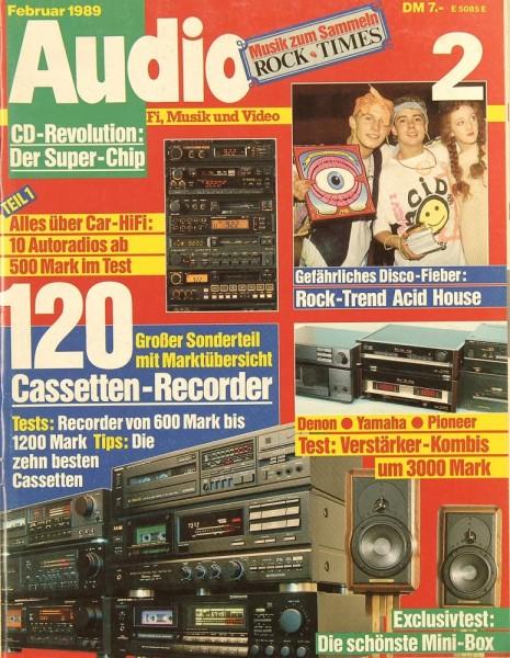 Audio 2/1989 Zeitschrift