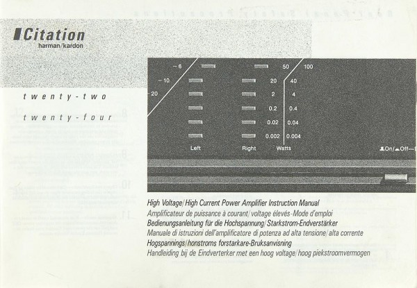 Citation Citation 22 / 24 Bedienungsanleitung