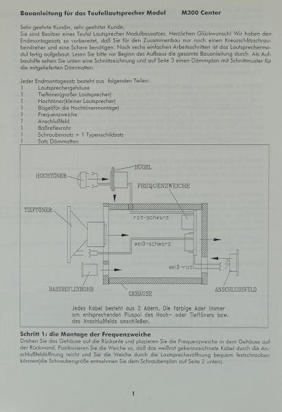 Teufel M 300 Center Bedienungsanleitung