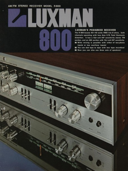 Luxman R 800 Prospekt / Katalog