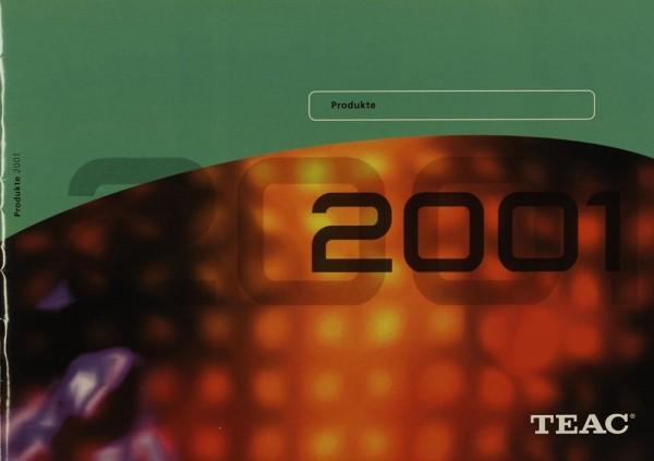 Teac Produkte 2001 Prospekt / Katalog