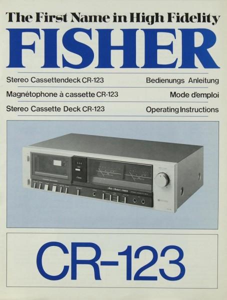 Fisher CR-123 Bedienungsanleitung