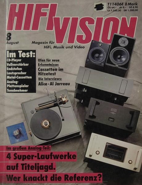 Hifi Vision 8/1992 Zeitschrift