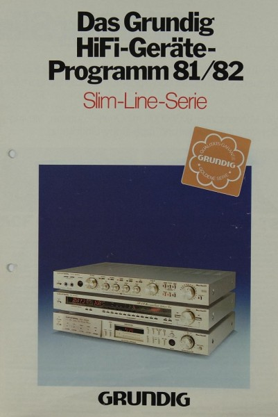 Grundig Programm 81/82 Slim-Line-Serie Prospekt / Katalog