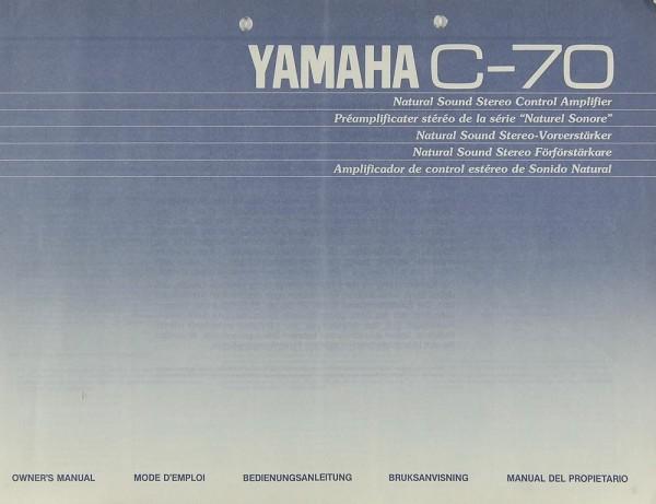 Yamaha C-70 Bedienungsanleitung