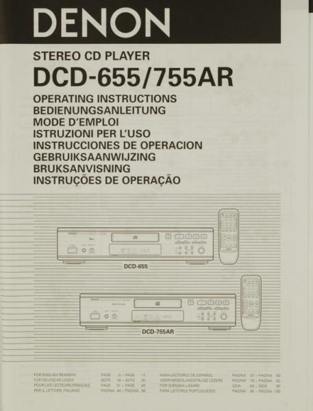 Denon DCD-655 / 755 AR Bedienungsanleitung