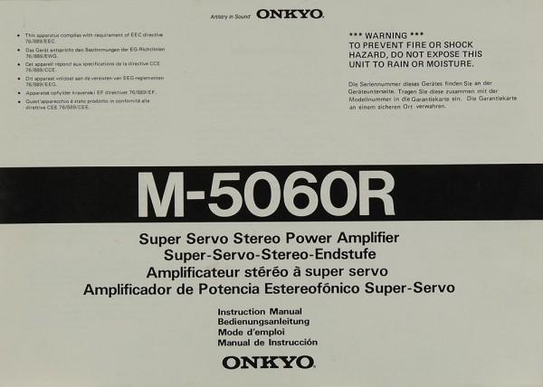 Onkyo M-5060 R Bedienungsanleitung