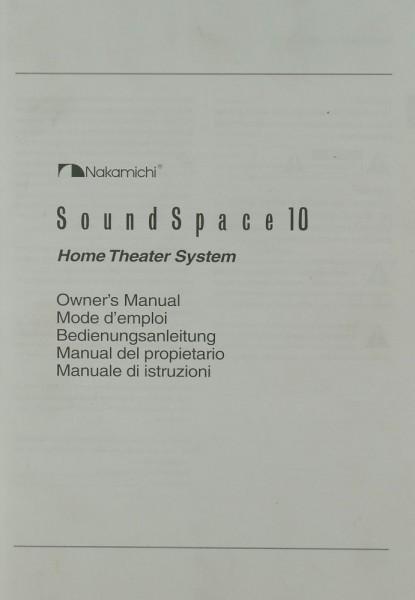 Nakamichi Sound Space 10 Bedienungsanleitung