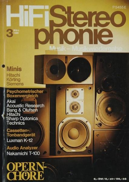 Hifi Stereophonie 3/1980 Zeitschrift