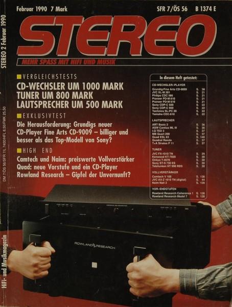 Stereo 2/1990 Zeitschrift