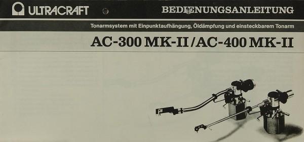 Ultracraft AC-300 MK-II / AC-400 MK-II Bedienungsanleitung