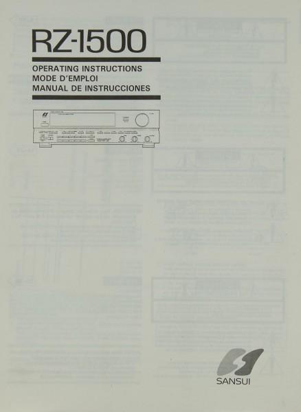 Sansui RZ-1500 Bedienungsanleitung