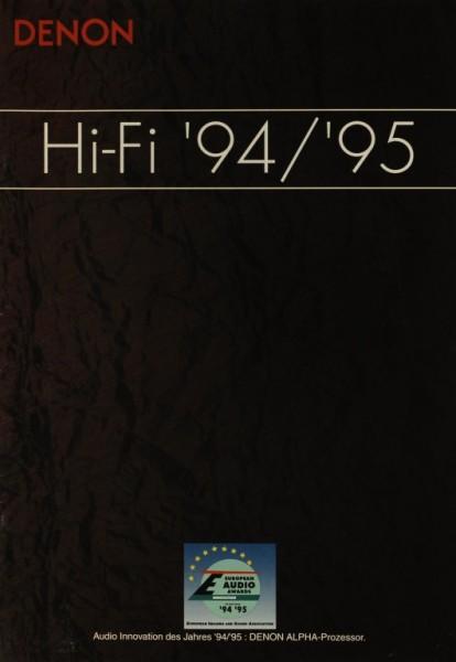 Denon Hi-Fi ´94/´95 Prospekt / Katalog