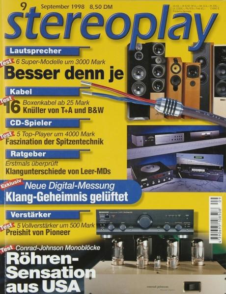 Stereoplay 9/1998 Zeitschrift