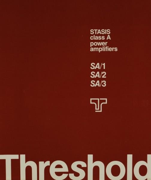 Threshold SA/1 SA/2 SA/3 Prospekt / Katalog