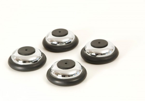 Transrotor Jumbo Pucks chrom 4er Set