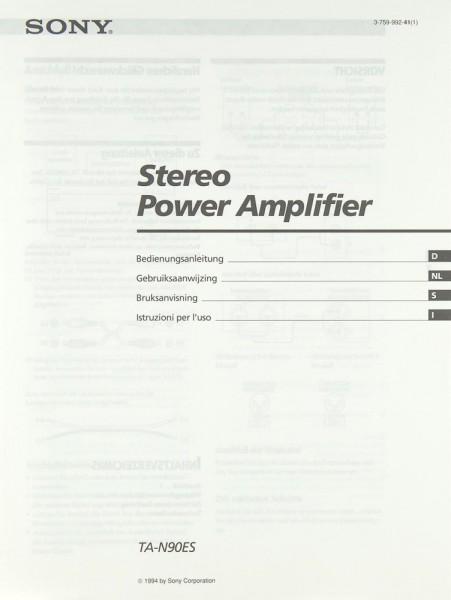 Sony TA-N 90 ES Bedienungsanleitung