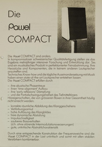 Pawel Compact Prospekt / Katalog