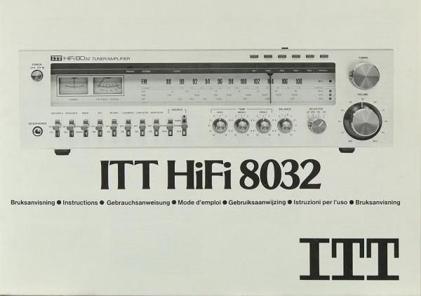 ITT ITT HiFi 8032 Bedienungsanleitung