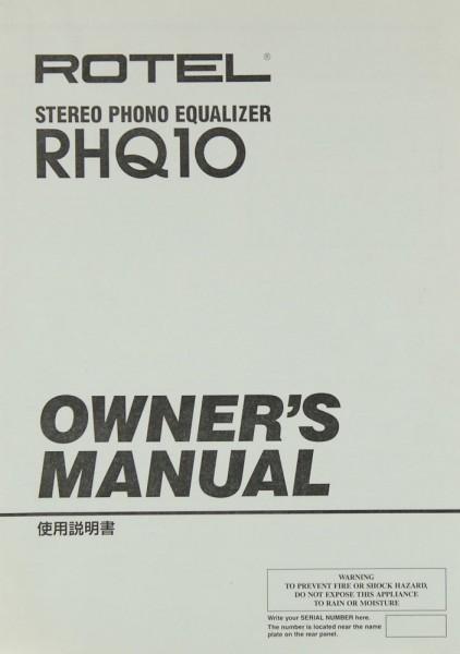 Rotel RHQ 10 Bedienungsanleitung