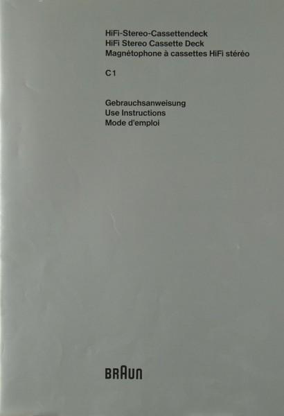 Braun C 1 Bedienungsanleitung