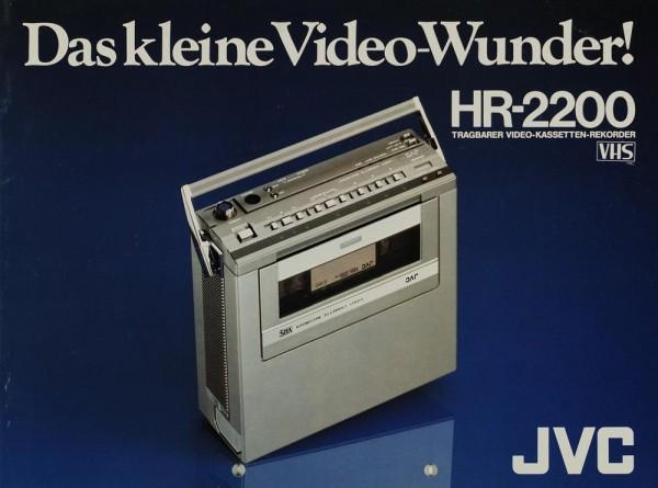 JVC HR-2200 - Das kleine Video-Wunder! Prospekt / Katalog