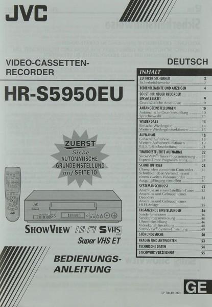 JVC HR-S 5950 EU Bedienungsanleitung