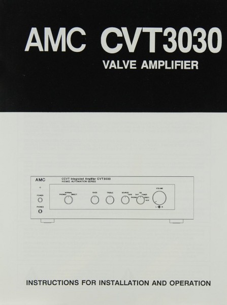 AMC CVT 3030 Bedienungsanleitung