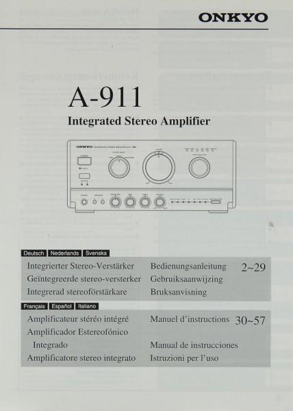 Onkyo A-911 Bedienungsanleitung