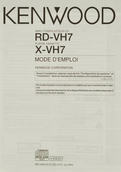 Kenwood RD-VH 7 / X-VH 7 Bedienungsanleitung