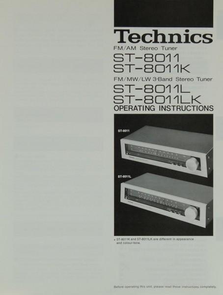 Technics ST-8011 / ST-8011K / ST-8011L / ST-8011LK Bedienungsanleitung